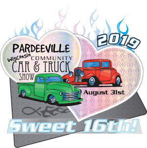 15th Annual Pardeeville Community Car & Truck Show Logo