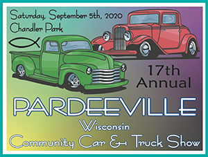 17th Annual Pardeeville Community Car & Truck Show Logo